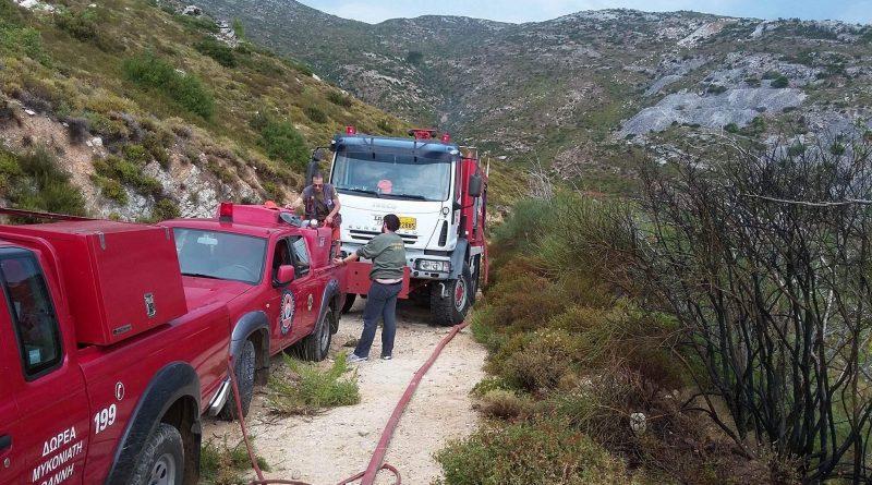 Άμεση επέμβαση του ΣΠΑΠ σε πυρκαγιά που ξέσπασε από κεραυνό στην Πεντέλη