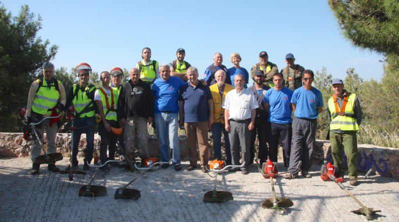 O Σ.Π.Α.Π. πραγματοποίησε δράση εθελοντικού καθαρισμού στο Λόφο του Προφήτη Ηλία στη Νέα Πεντέλη