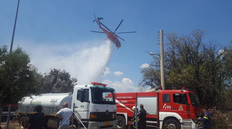 O Σ.Π.Α.Π. συνέδραμε με εθελοντές και οχήματα στην κατάσβεση πυρκαγιάς που ξέσπασε σε αποθήκη παλετών στο Μενίδι