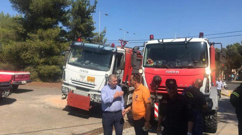 Συμμετοχή του Σ.Π.Α.Π. με εθελοντές και οχήματα στην κατάσβεση της πυρκαγιάς που εκδηλώθηκε στη Ραφήνα