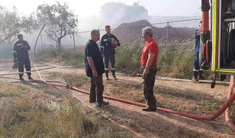 Άμεση επέμβαση του Σ.Π.Α.Π. στη πυρκαγιά που ξέσπασε στην Δ.Κ. Άνοιξης του δήμου Διονύσου