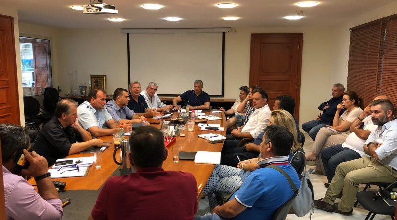 O Πρόεδρος του Σ.Π.Α.Π. στην έκτακτη σύσκεψη του Συντονιστικού Τοπικού Οργάνου Πολιτικής Προστασίας του Δήμου Αμαρουσίου