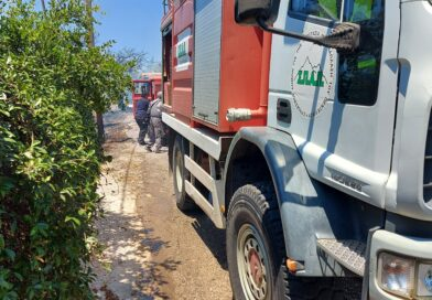 Άμεση επέμβαση του ΣΠΑΠ στη πυρκαγιά που ξέσπασε στον Λόφο Παλλήνης